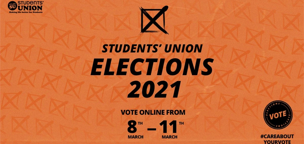 Students' Union Elections 2021. Voting opens 8th March